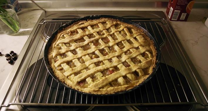 Rhabarber-Pie