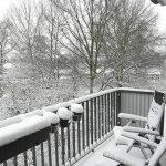 Erneuter Wintereinbruch auf dem Balkon