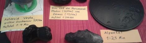 gedruckte Asteroiden