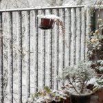 Wintereinbruch auf dem Balkon