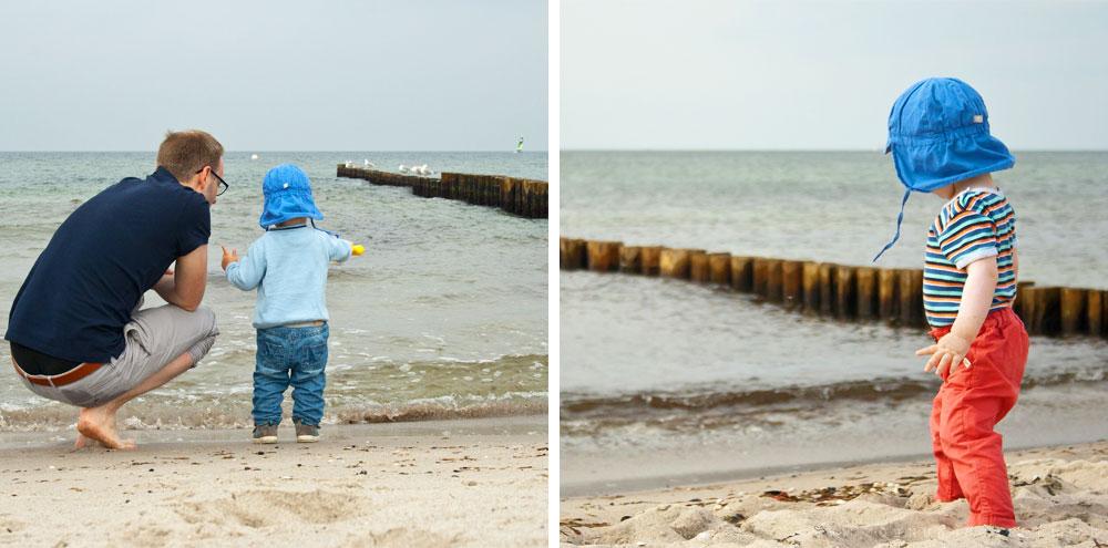 Trsitan und Julian am Meer