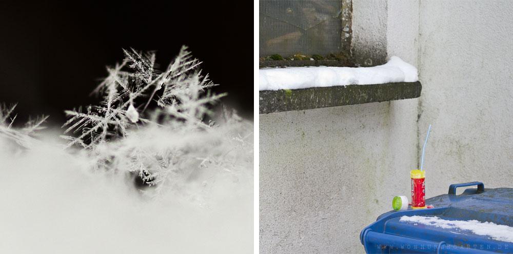 Schneeflocken und Experimentumgebung