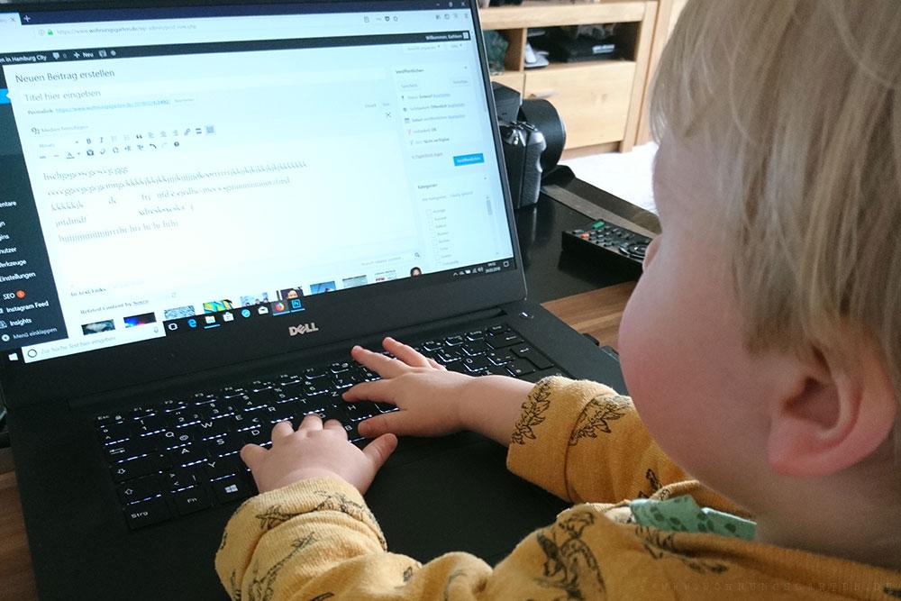 Tristan schreibt seinen ersten Blogartikel