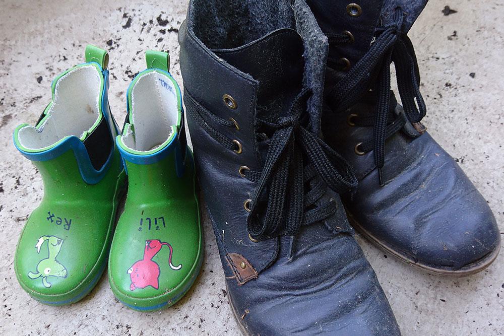 Unsere alten Stiefel
