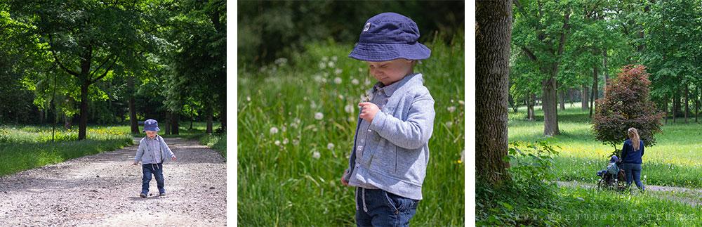 Tristan entdeckt den Schlosspark