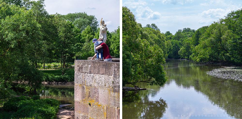 Blick auf den Fluss Fulda