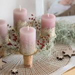 Schneller Upcycling-Adventskranz